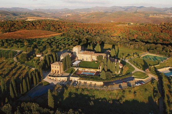 Borgo Scopeto Relais: Air view