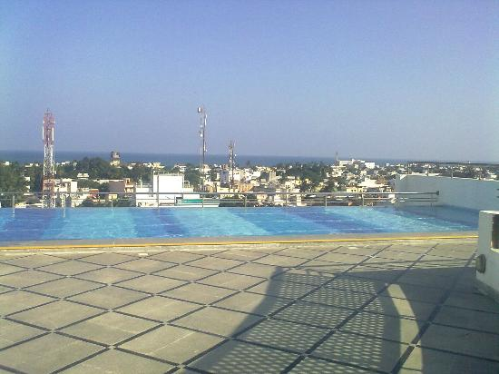 View from pool picture of hotel atithi pondicherry tripadvisor Budget hotels in pondicherry with swimming pool