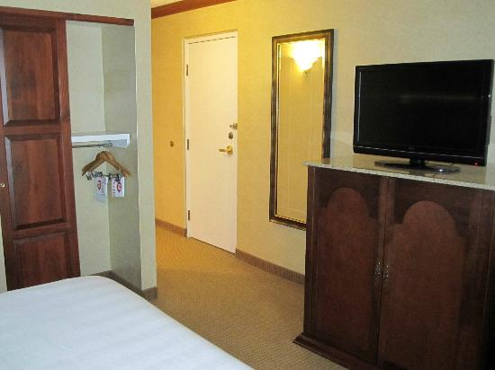 Crowne Plaza  Resort Asheville: Lots of storage, full length mirror, fridge is in the cabinet