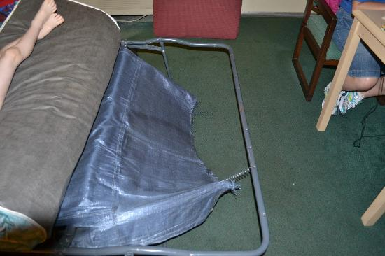 Super 8 Pigeon Forge/Emert Street: The hide a bed that was broke. My husband tried to fix it where we could use it.