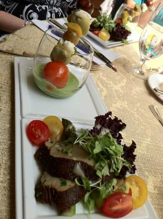 Four Seasons Washington D.C.: Shish Kabob of Vegetables in Green Goddess Dressing