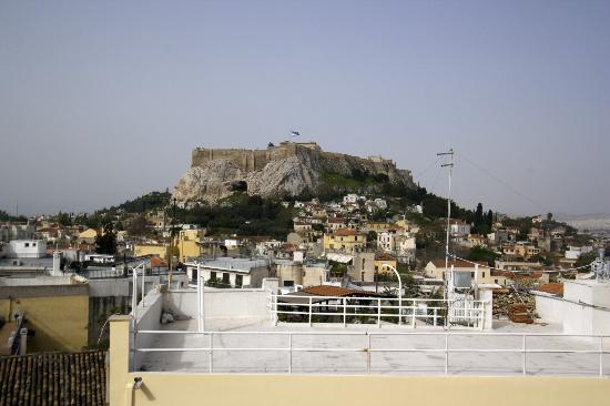 Adonis Hotel: View during breakfast from rooftop terrace
