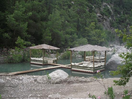 Goynuk, Turkey: The floating seating areas