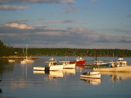 Lobster boats in Round Pond Harbor
