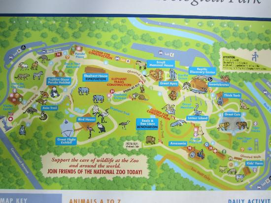 Zoo Map Picture Of National Zoological Park Washington