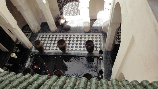 Dar Darma: View down to water feature