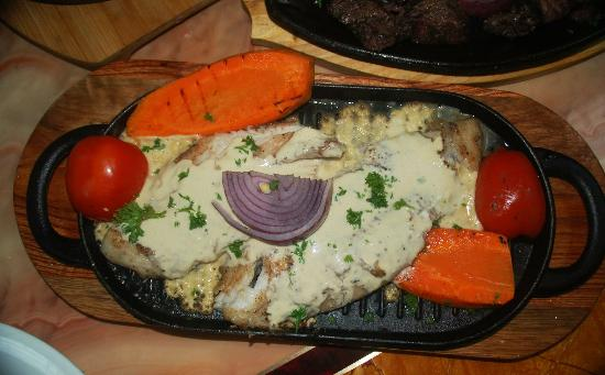 ... Baba Lebanese Photo: Grouper, Mediterranean style with Garlic Sauce