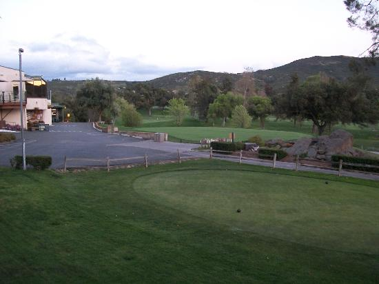 San Vicente Golf Resort: view of grounds from room balcony