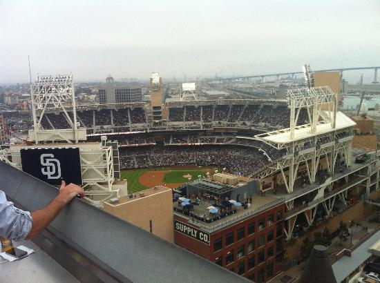 view from roof bar. Go Padres! - Picture of San Diego ...