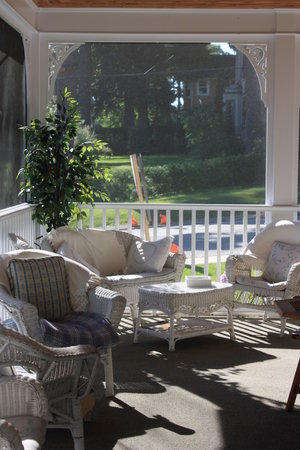 The Victorian Inn: Our Screened-In Veranda