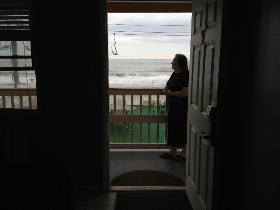 Seaside Heights, NJ: Looking out from our room...