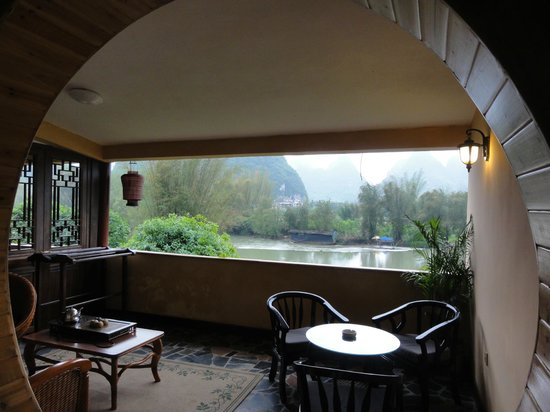 Yangshuo Mountain Retreat: Balcony of 201A looking out