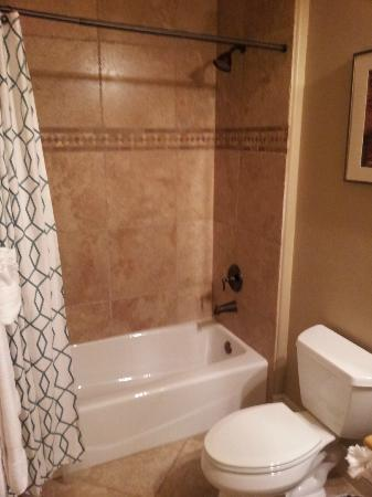 Coral Springs Resort: Guest shower/tub