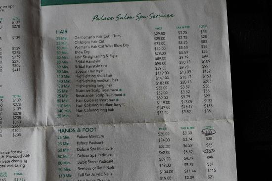 Spa prices 4 picture of moon palace golf spa resort for F salon jaipur price list
