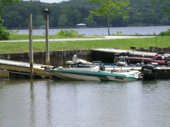 Piney Point Resort: Just one of many fishing boats this week