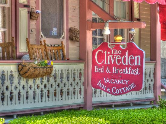 The Cliveden Inn: Cliveden sign