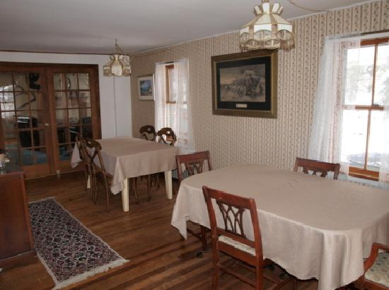 Jacksonville, VT: Our dining room.