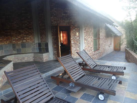 Elandela Private Game Reserve: OUR DECK CHAIRS IN FRONT OF ROOM