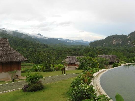 Thanyamundra Organic Resort: View towards the mountains. Spectacular.!
