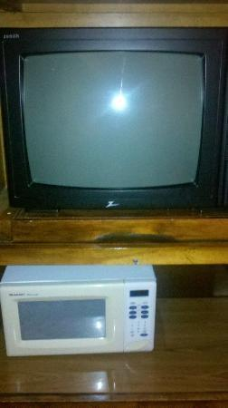 Sea Side Hotel: OLD TV and Microwave that does'nt work