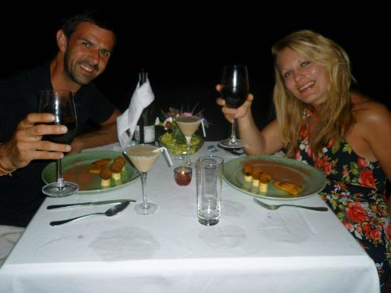 Long Beach Resort Phu Quoc: Our own private table for our marriage proposal. Those chocolate balls are out of this world!