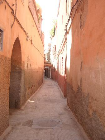 Street leading to Riad Adore