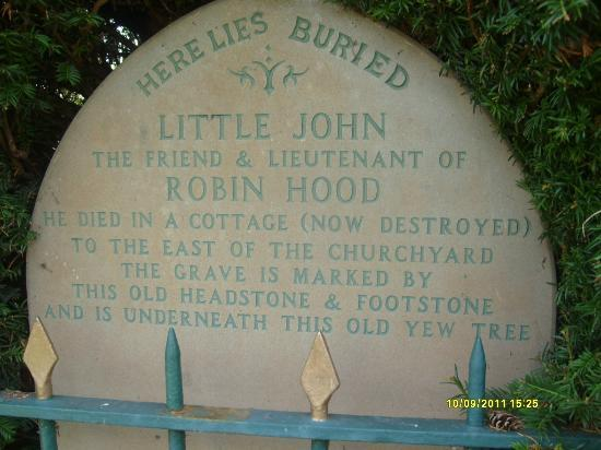 Whats Engraved Picture Of Little John S Grave