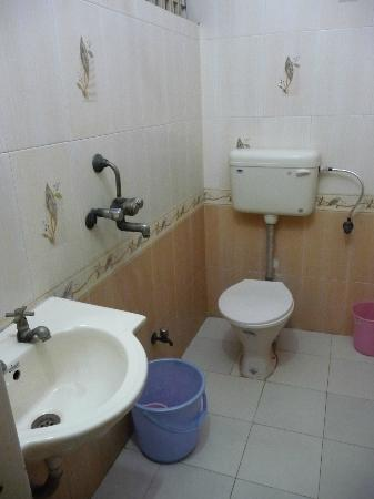 Hotel Sidhartha: clean bathroom, no shower