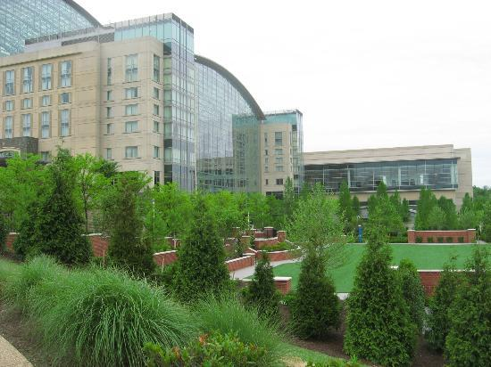 Gaylord National Resort & Convention Center: Lake front view of the atrium and outdoor courtyard