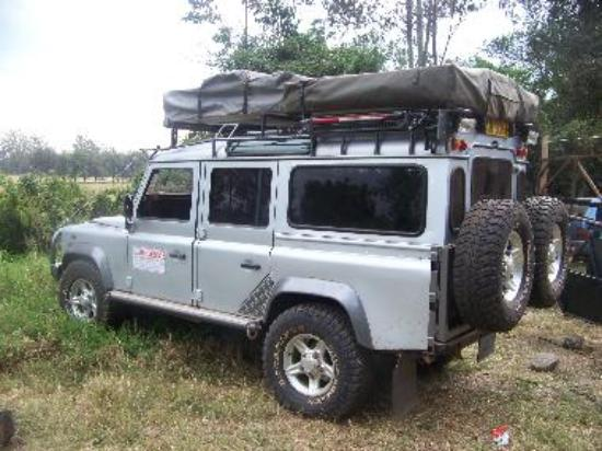 4x4 with roof top tent 