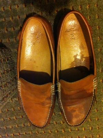 Holiday Inn Express Miami-Hialeah (Miami Lakes): My shoes, after they&#39;ve been ruined by the 3:15AM leak
