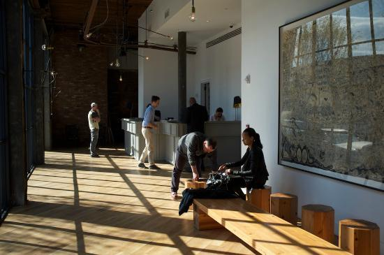 Wythe Hotel: Business Lobby on opening day
