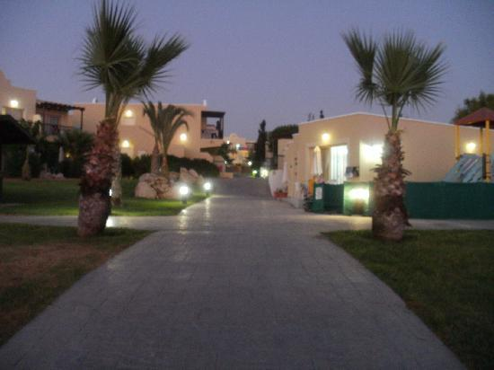 Pafian Park Holiday Village: Looking up towards the complex