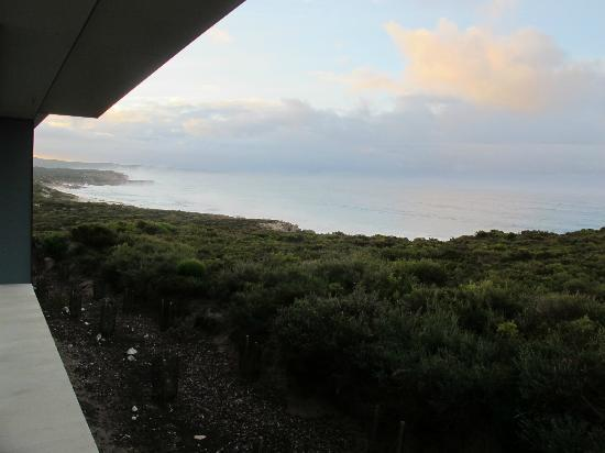 Southern Ocean Lodge: View from room looking down the coast