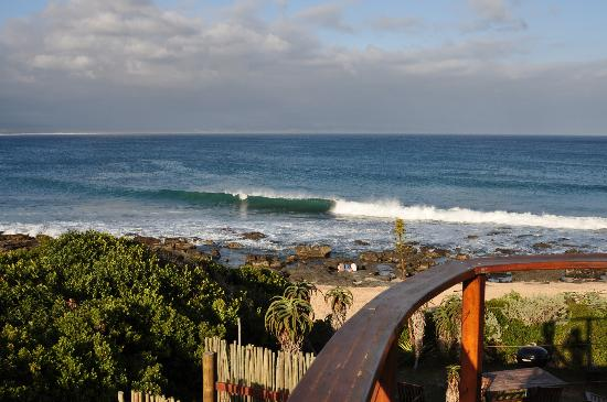 African Perfection Jeffreys Bay: Supertubes from our balcony