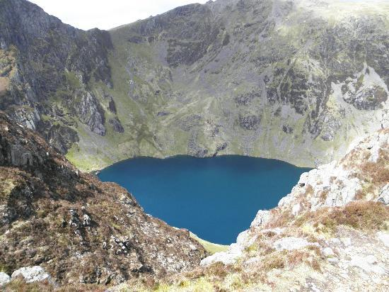 Ceredigion, UK: Llyn Cau from above.