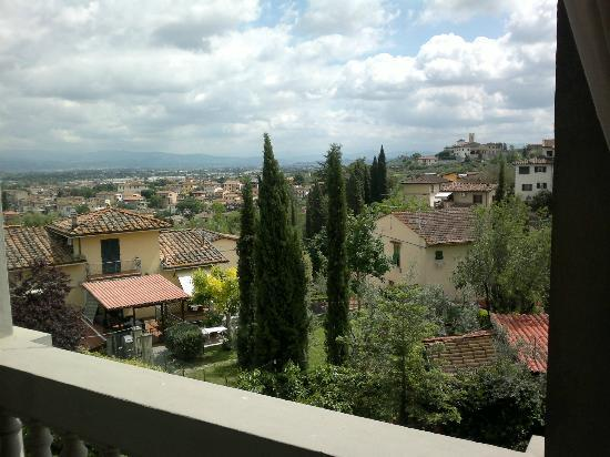 Valdirose: View towards Firenze from 2. floor terrace