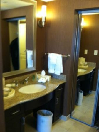Homewood Suites by Hilton Bel Air: Sink/Mirror/Closet