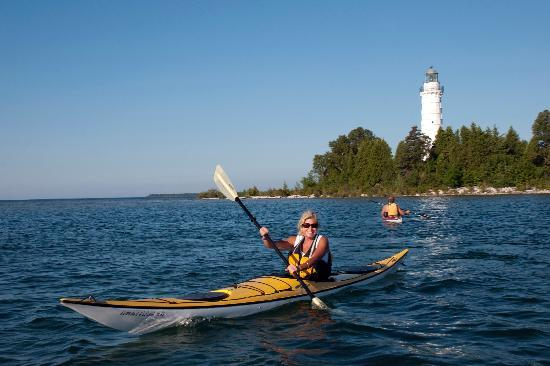 Door County, WI: Kayaking at Cana Island Lighthouse on Lake Michigan