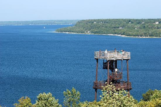 Door County, WI: Bird's-eye view from Eagle Tower at Peninsula State Park