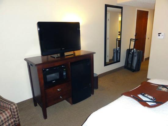 Hampton Inn Charleston/Mt. Pleasant-Patriots Point: TV & fridge