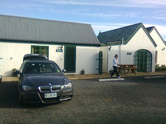 The Richmond Barracks: The parking area at Richmond Barracks