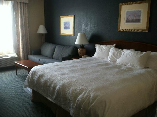 Hampton Inn Charleston - Daniel Island: Bed and Couch
