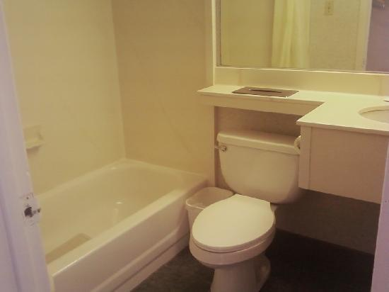Econo Lodge on the Ocean: Bathroom Facilities in Room
