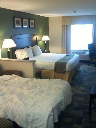 Holiday Inn Express Hotels And Suites Pekin: Room with queen bed and sleeper sofa