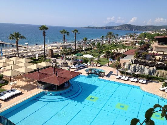 Camyuva, Turqua: Pool and Sea view from 5421