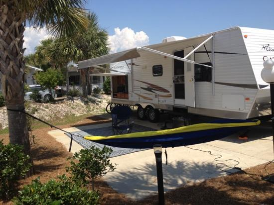 Panama City Beach RV Resort: our site