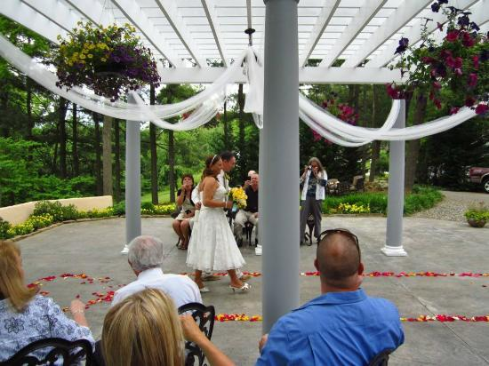 Wedding pergola picture of biltmore village inn for Biltmore estate wedding prices