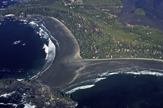 Tofino Beach Homes: Aerial of Chesterman Beach