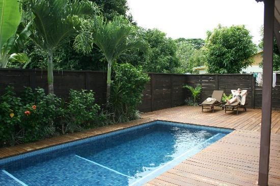 Sea Change Villas: Part of the rear deck with private pool